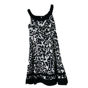 Jones Wear Black Floral Stretch Mini Dress Sz 8